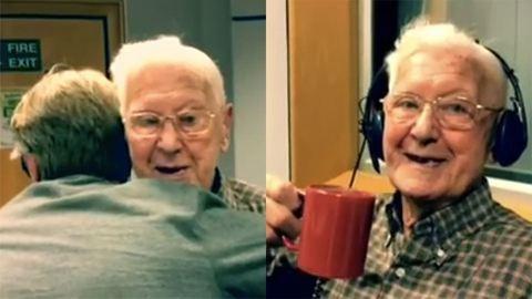 Meghívta a 95 éves bácsit egy rádió egy kávéra, miután betelefonált, hogy magányos