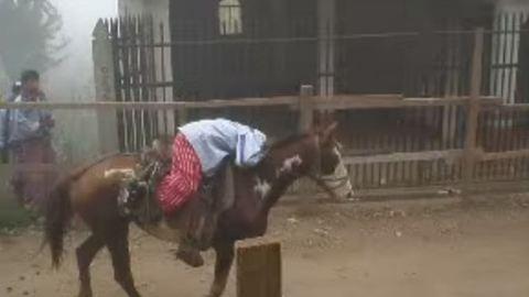 Részeg lovasok versenyeztek mindenszentekkor – videó