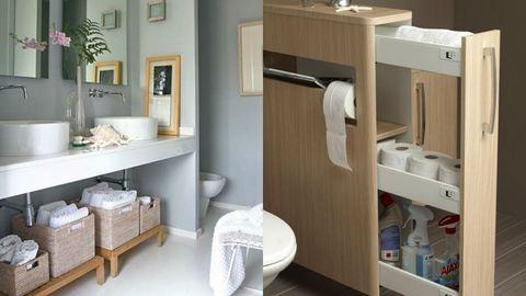 10 tárolási tipp, ha kicsi a fürdőszobád