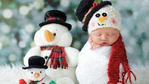 Robban a cukiságbomba: 10 karácsonyi babás kép