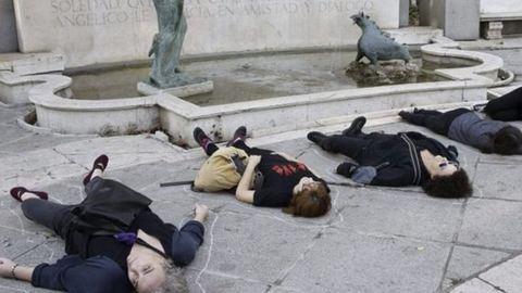 A férfierőszak ellen tüntettek Madridban