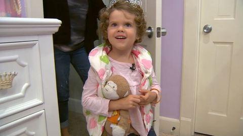 Hercegnőszobával lepték meg a leukémiás kislányt