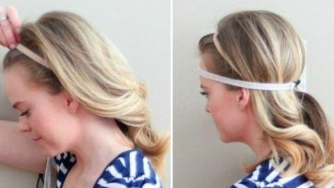 Így készíts sikkes, feltűzött frizurát hajpánt segítségével!