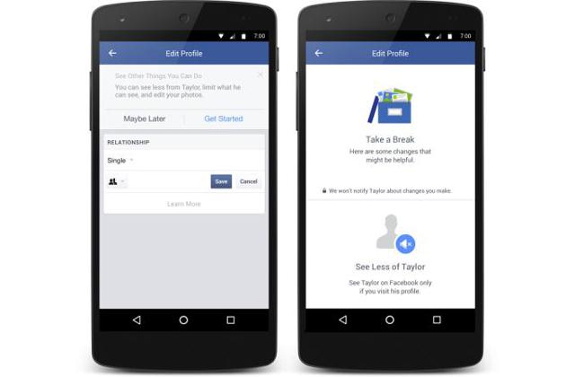 A Facebook ezentúl a szakításkor is segít