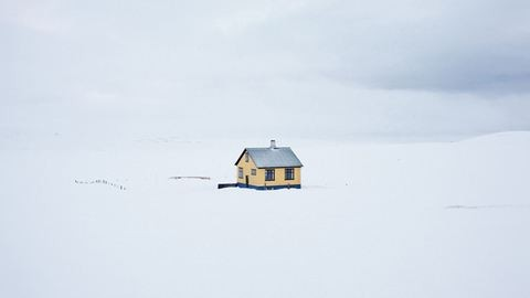Gyönyörűen fehér a tél Izlandon – fotók