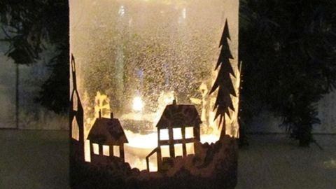 Gyönyörű karácsonyi világító üvegek