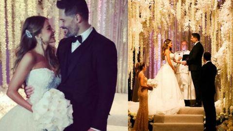 Férjhez ment a 43 éves Sofía Vergara, nézd meg a négy esküvői ruháját