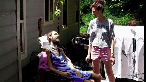 Kerekesszékével fest az ALS-es férfi – videó
