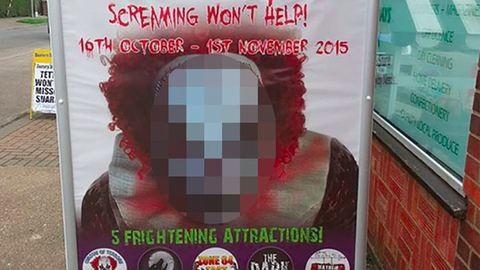 Betiltották a bohócos plakátot, mert túlságosan ijesztő volt