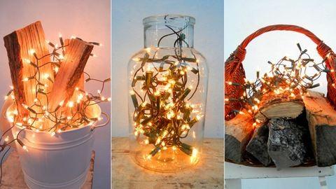 Vállfa, kuka, dunsztosüveg: így díszítsd a lakást karácsonykor fényfüzérrel!