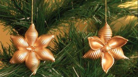 Készíts száraztésztából gyönyörű szép karácsonyi díszeket