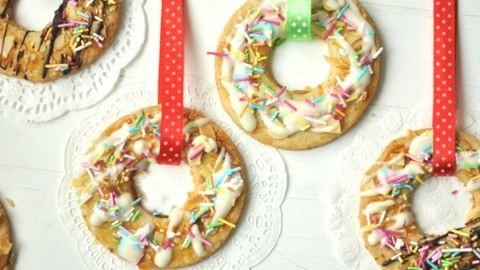 Karácsonyi sütidísz: mandulás karika