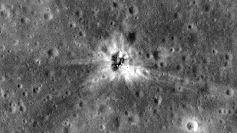 Lezuhant rakétát találtak a Holdon
