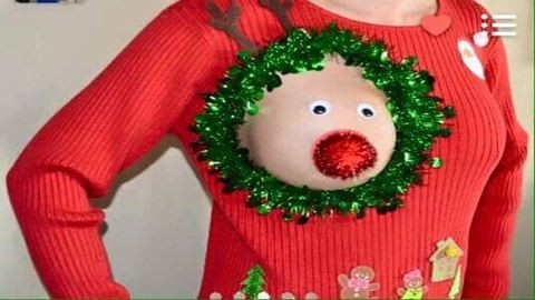 Vicces karácsonyi pulóver szoptató kismamáknak – fotók