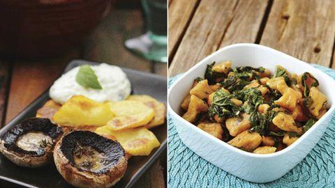 Kakukkfüves gomba fetakrémmel és sütőtökös gnocchi: 2 kímélő ünnepi recept