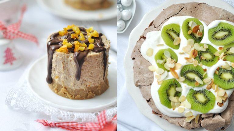 Gyönyörű last minute karácsonyi sütik: mini sajttorta és a karácsonyi pavlova