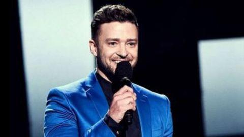 Justin Timberlake cuki fotón puszilgatja a kisfiát