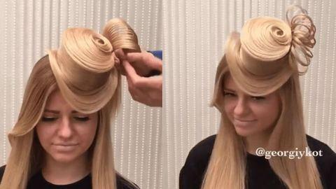 Ilyet még nem láttál: igazi hajból készített kalapot a fodrász