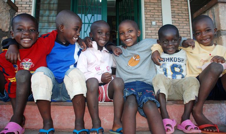 Gyerekek az egyik burundi SOS-faluban