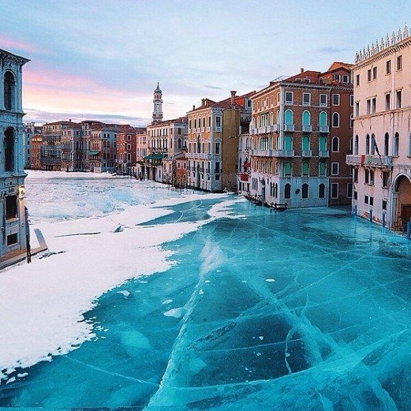 Velence a jég fogságában - képek