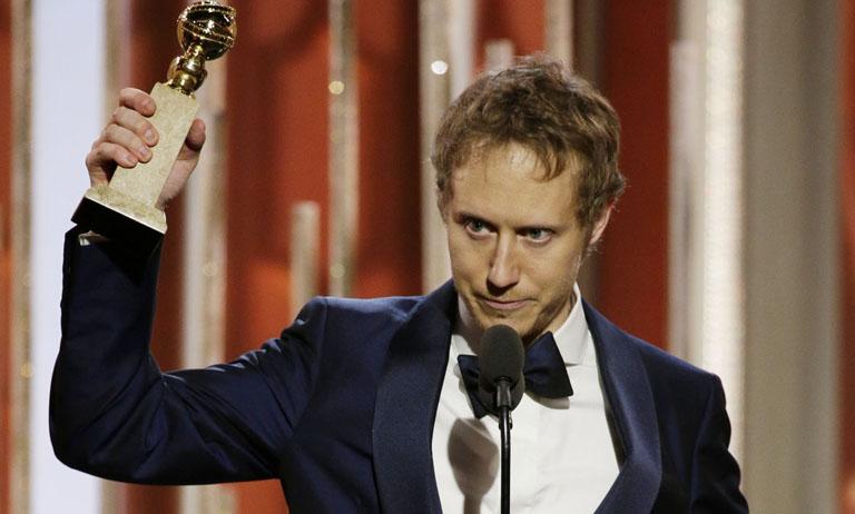 Nemes Jeles László a Golden Globe díjjal