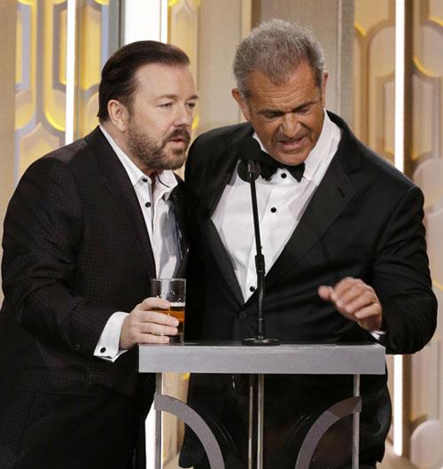 Ricky Gervais és Mel Gibson