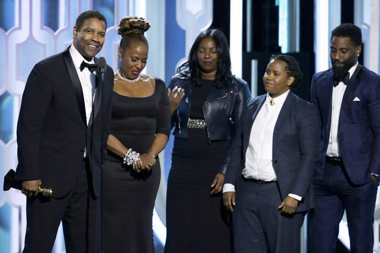 Denzel Washington családjával a gálán