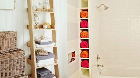 15 helytakarékos és mutatós fürdőszobai ötlet, amivel a káoszból rögtön rend lesz – képek