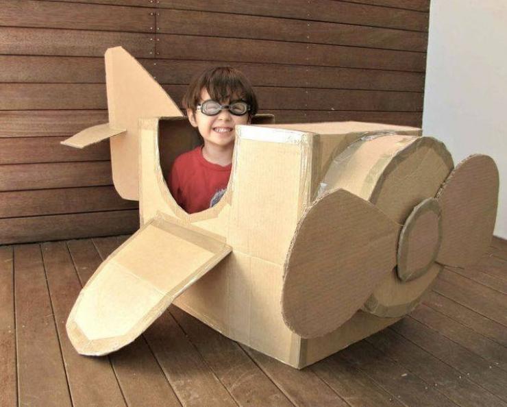 10 szuper DIY játéktipp kartondobozból