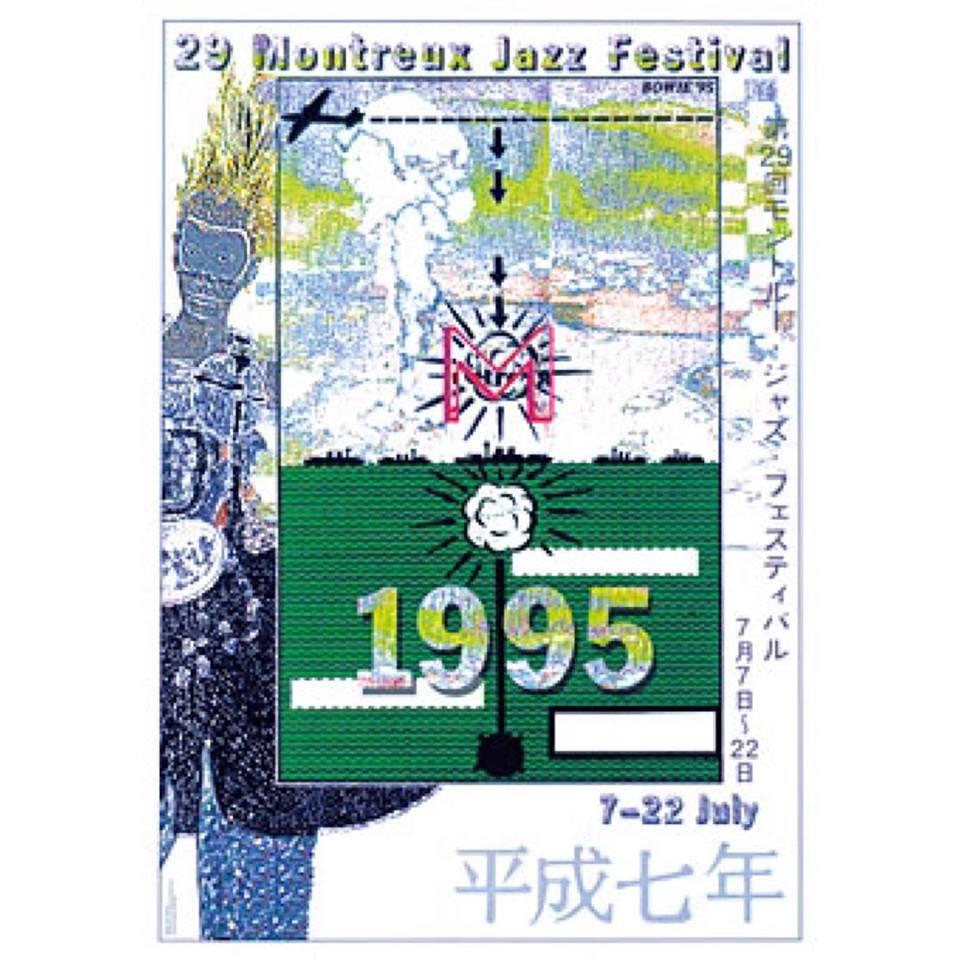 Az 1995-ös Montreux-i jazz fesztivál plakátja, amelyet David Bowie készített