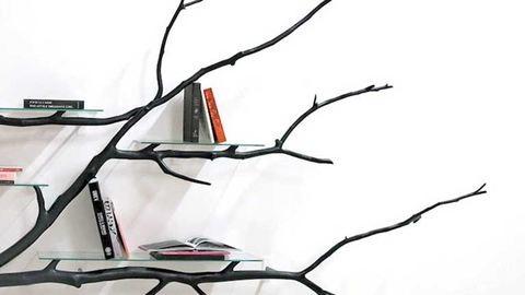 Így legyen dizájnos polcod talált faágból
