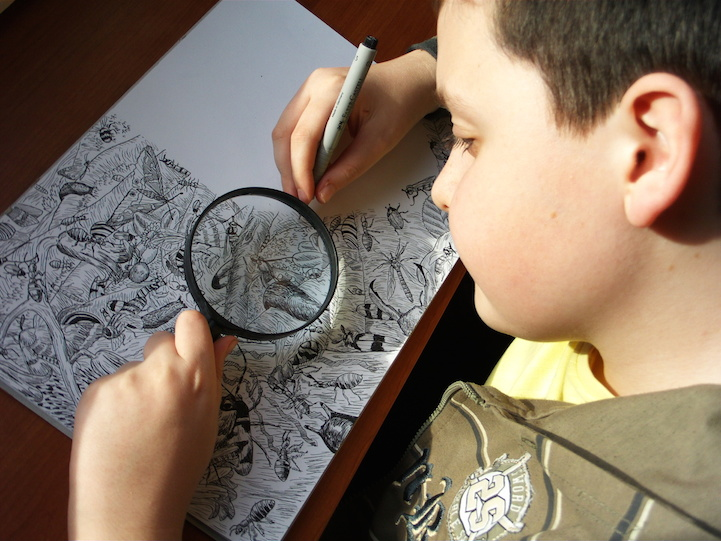Elképesztő rajzokat készít a 11 éves kisfiú - fotók