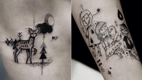 Ezekért az absztrakt tetoválásokért őrül meg a fél világ