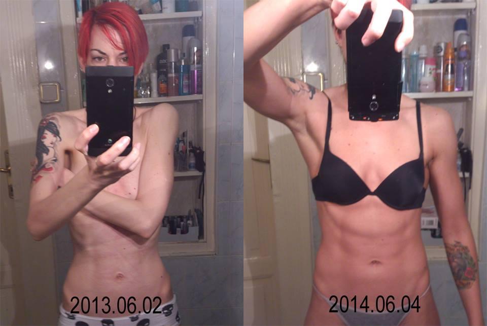 Egy év telt el a két fotó között, a változás egészen szembeötlő