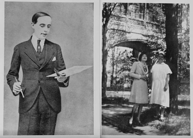 Einar Wegener a festő, jobbra már Lili Elbeként