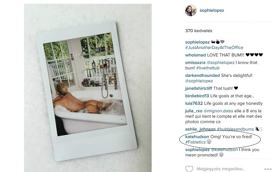 Kate Hudson meztelen képpel cukkolja a 23 éves Nick Jonast