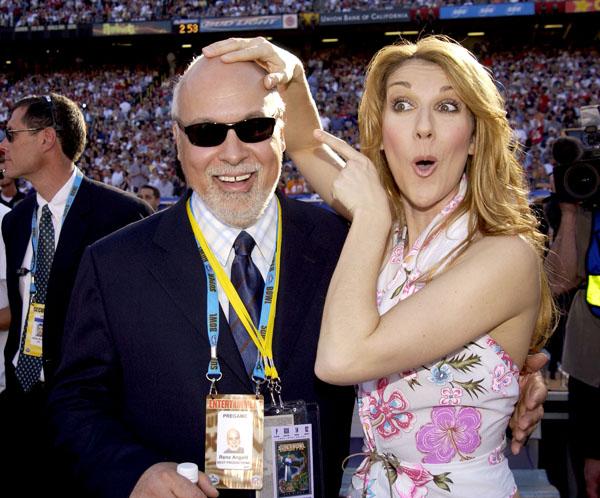 René és Celine a Super Bowlon