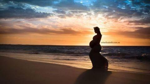 Lenyűgöző fotók az ötös ikrekkel várandós anyukáról