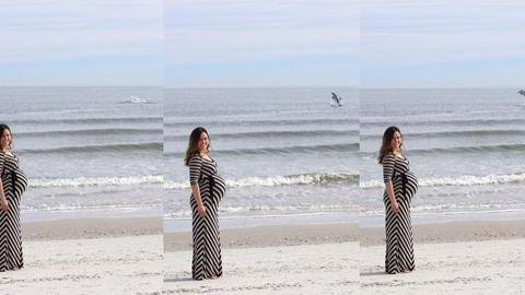 Delfin trollkodta szét a terhes kismama fotózását