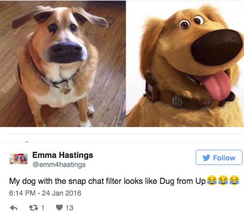 Ezzel a Snapchat filterrel rajzfilmkutyát csinálhatsz kedvencedből