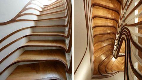 Ilyen modern lépcsőket még tutira nem láttál!