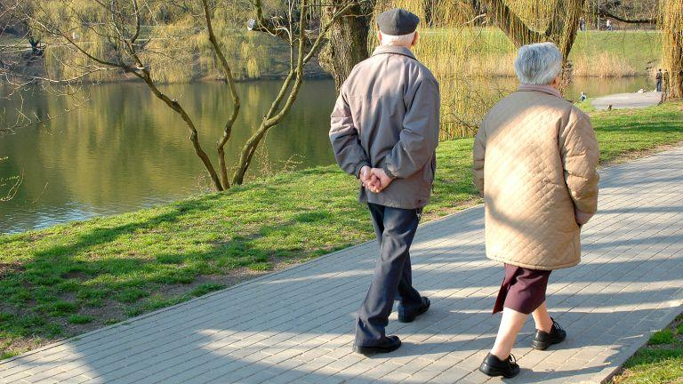 A séta véd az időskori elbutulás ellen