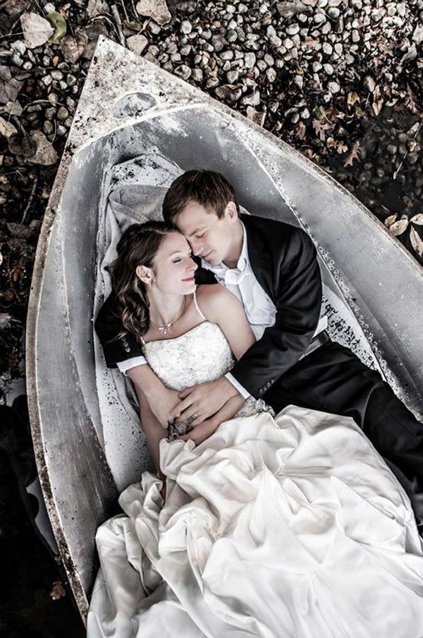 15 szuper romantikus esküvői fotó Valentin-napra