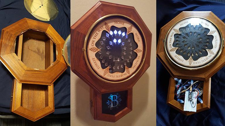 Elkészítették Weasley család mágikus óráját