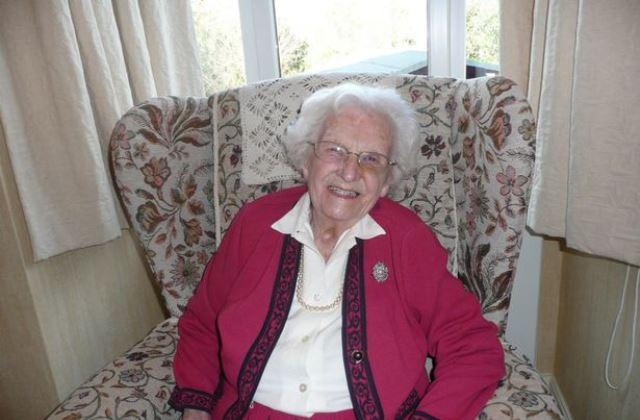 Kathleen február 10-én ünnepelte 105. születésnapját