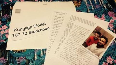 Megható levelet írt egy szíriai kisfiú a svéd királynak