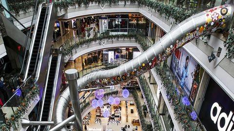 Csúszdás pláza nyílt Sanghajban