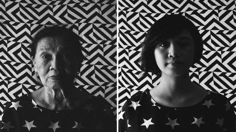 Nagymamájával közös fotókkal dolgozza fel édesapja elvesztését a fiatal lány