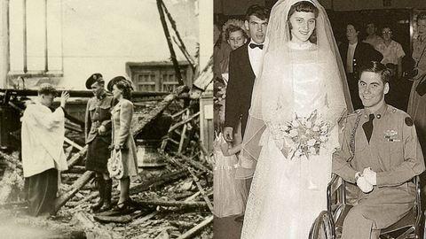 Esküvők a világháború idején – 20 megható fotó