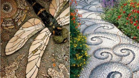 Csináld magad: kerti mozaikos járda